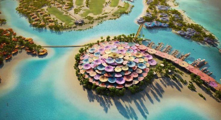 Foster + Partners diseña Coral Bloom, proyecto turístico en el Mar Rojo