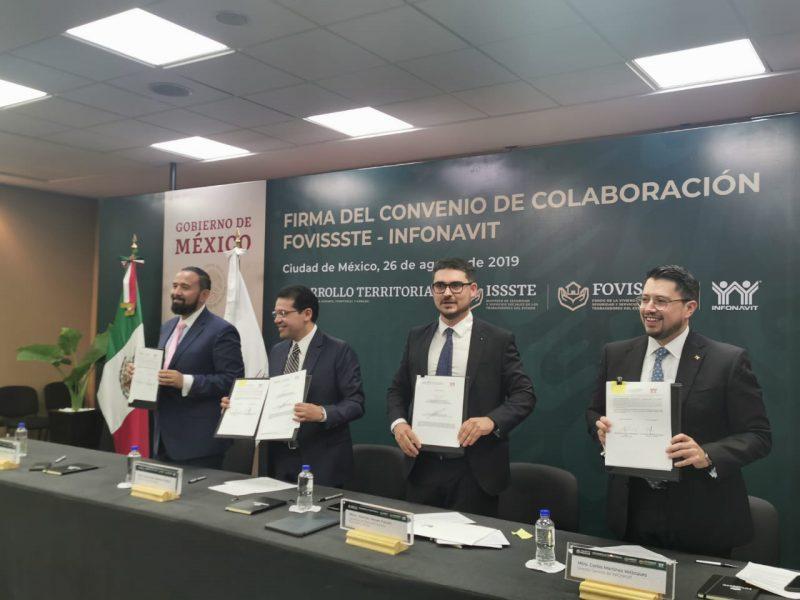 Infonavit y Fovissste formalizan alianza de trabajo