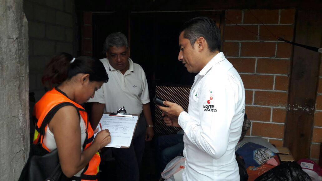 Continúa censo de viviendas dañadas en Morelos