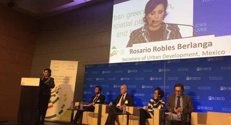 El compromiso es consolidar ciudades sostenibles y resilientes: Robles