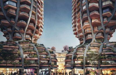 Heatherwick Studio diseña inusuales rascacielos curvilíneos en Canadá