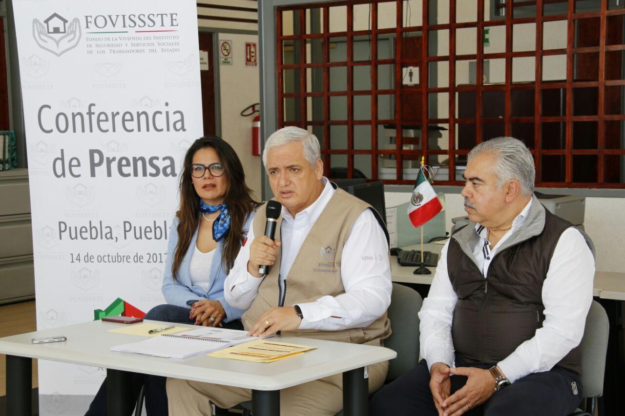 Fovissste invierte en créditos para afectados en Puebla
