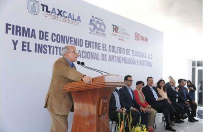 INAH y Colegio de Tlaxcala en alianza por patrimonio cultural del estado