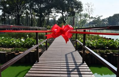 Construyen chinampa en el Parque Tezozómoc de Azcapotzalco