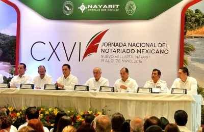 Inauguran la CXVI Jornada Nacional del Notariado Mexicano