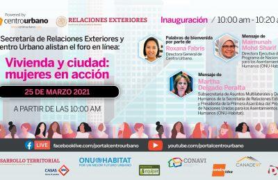 Mañana se llevará a cabo el Foro 'Vivienda y Ciudad: mujeres en acción'