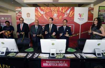 Inauguran Biblioteca Digital en la Casa Mexiquense en Chicago