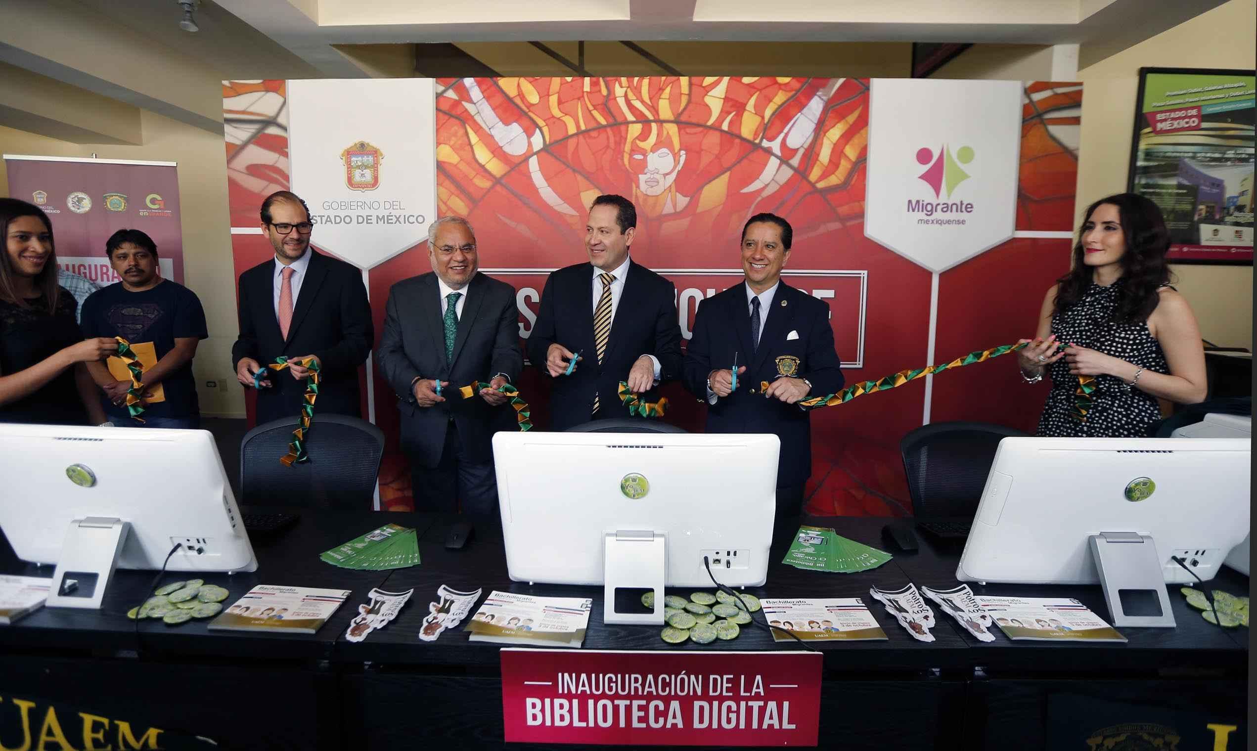 Inauguran Biblioteca Digital en la Casa Mexiquense en Chicago