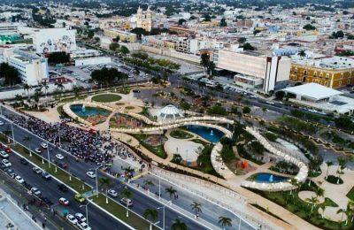 Inauguran Parque Moch Couoh en el centro histórico de Campeche