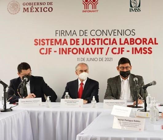 Infonavit y CJF firman convenio para la resolución de juicios laborales