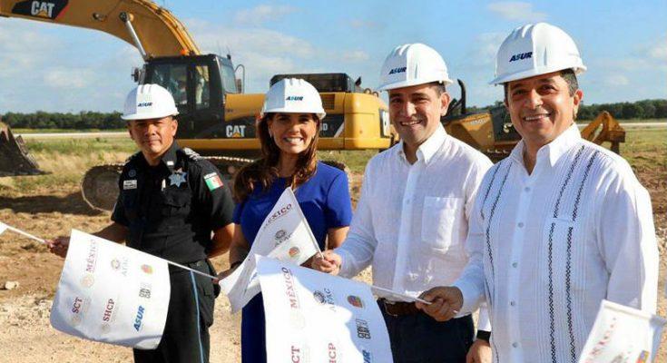 Inician obras de construcción y ampliación en aeropuerto de Cancún