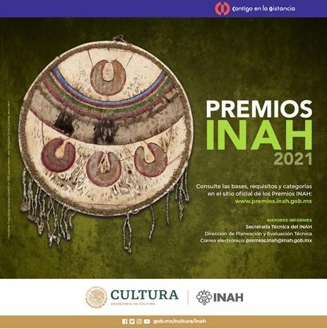 Lanzan la convocatoria para los Premios INAH 2021