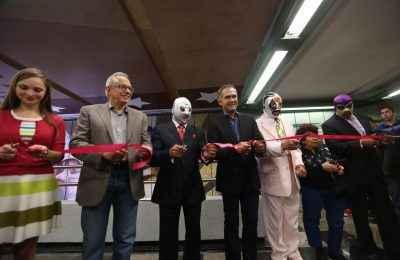 Inauguran primera estación emblemática del Metro