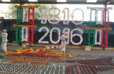 Listo el alumbrado para las Fiestas Patrias en la CDMX