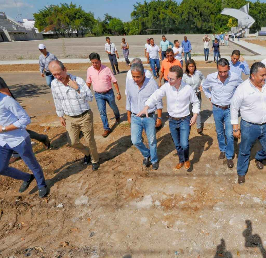 Continúa la obra del Centro Multideportivo y Ecológico Los Cerritos