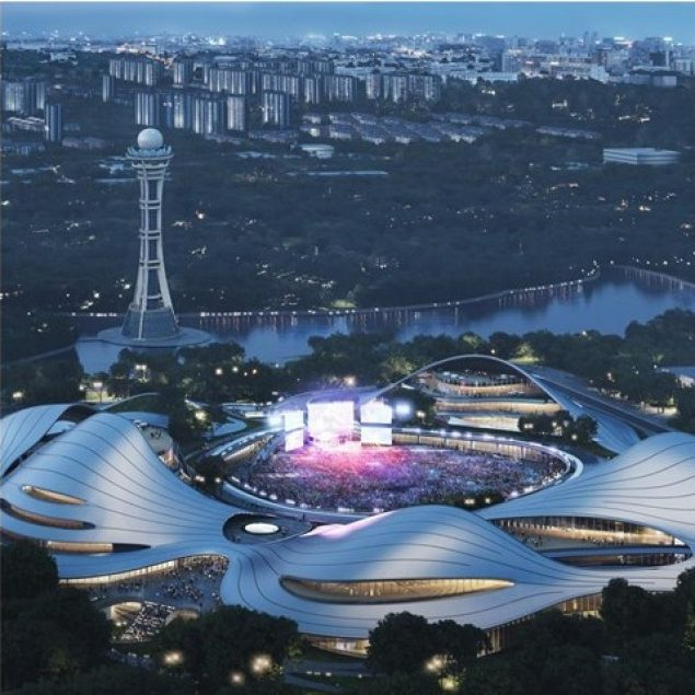 MAD Architects revela diseño del centro cívico de Jianxing, China