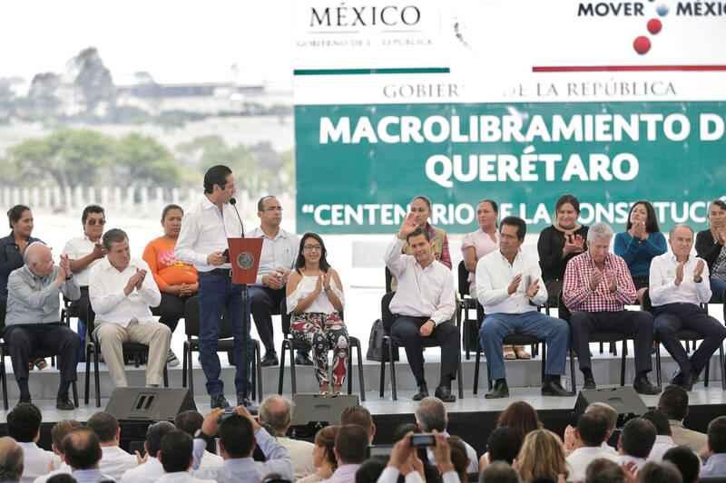 Inauguran Libramiento Palmillas-Apaseo en Querétaro