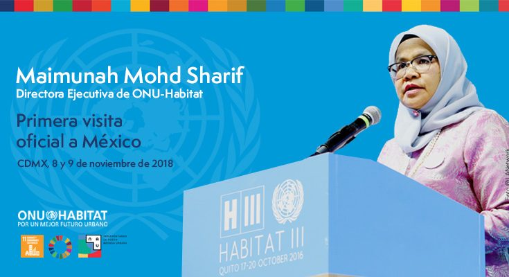 Directora ejecutiva de ONU-Hábitat visitará México