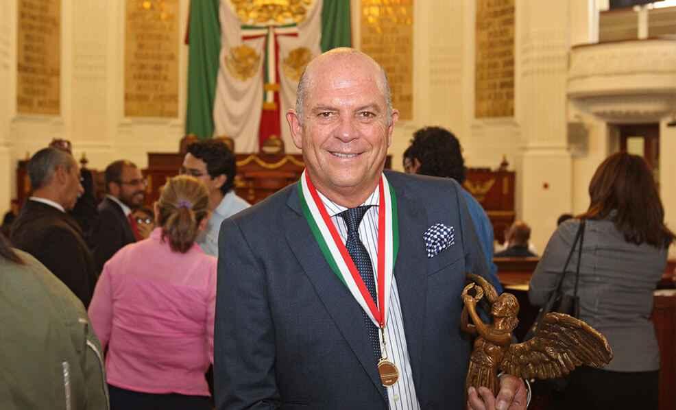 Otorgan Medalla al Mérito en Ciencias y Artes 2016 a Javier Sordo Madaleno