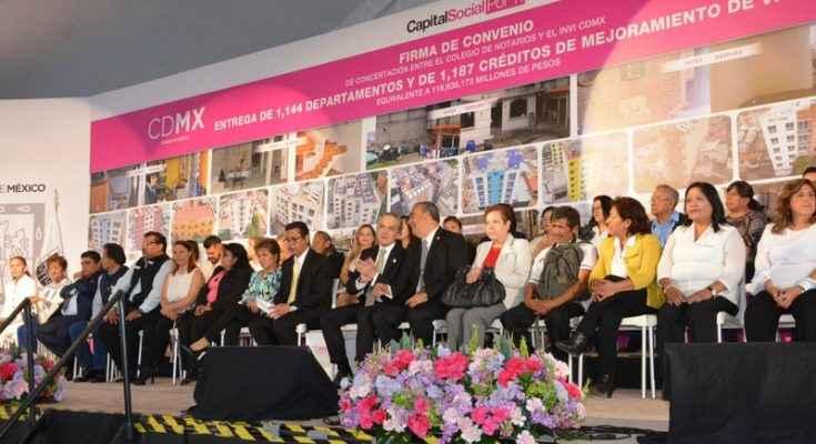 En 4 años, 100,000 acciones de vivienda en CDMX