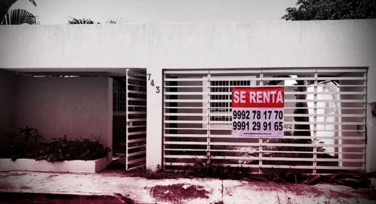 Mercado de la vivienda en renta sufre caída en la demanda
