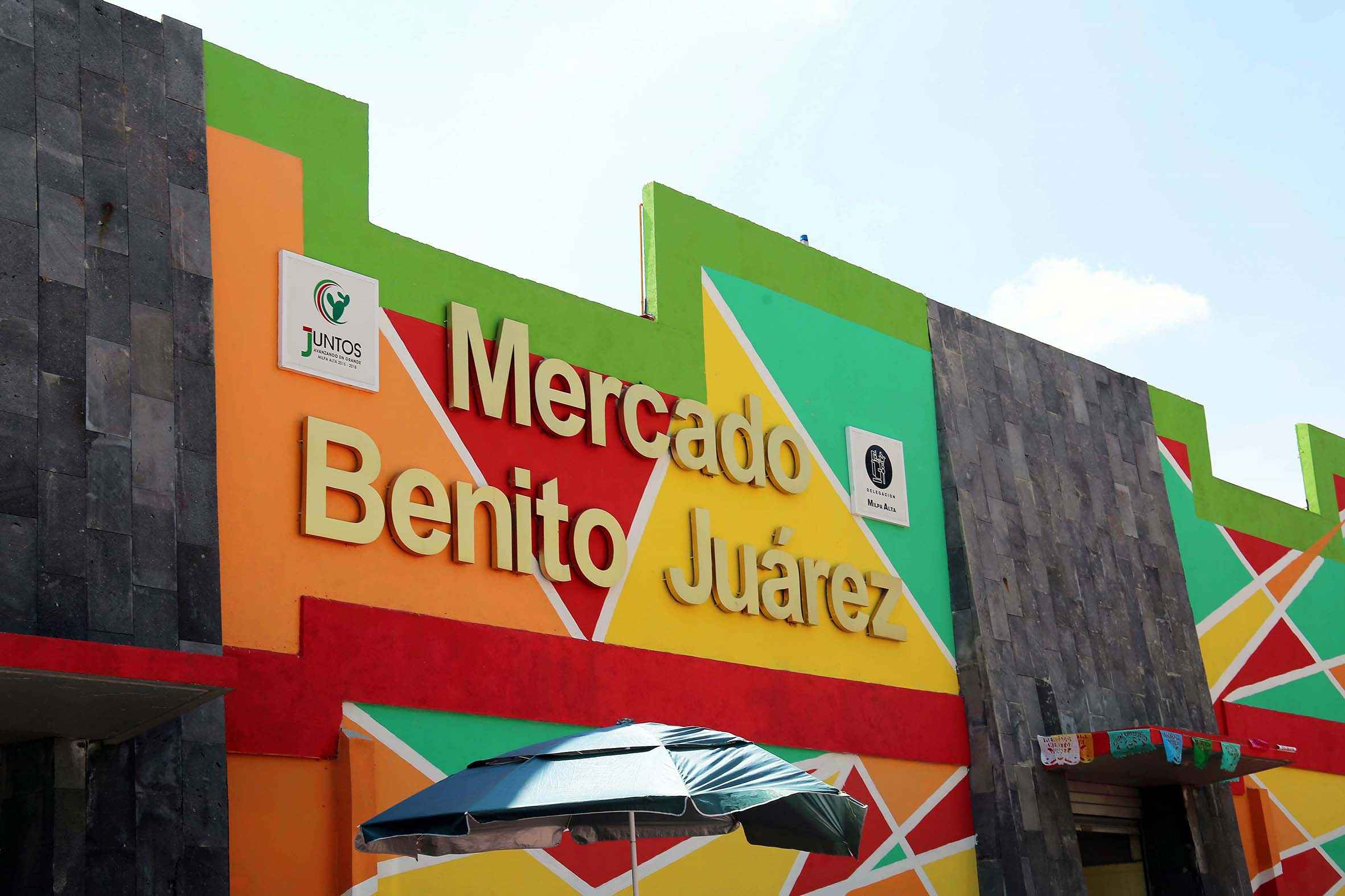 Reinauguran Mercado Benito Juárez en Milpa Alta