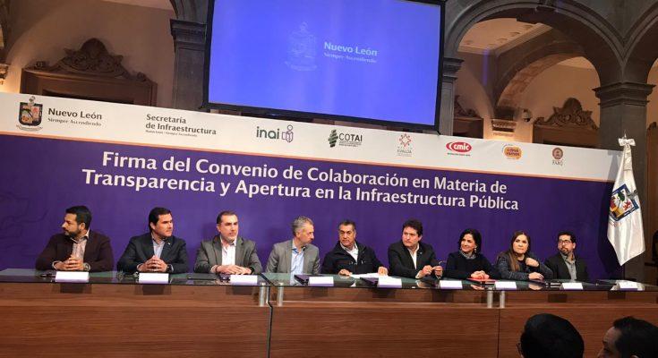 Nuevo León transparentará proyectos de obra pública
