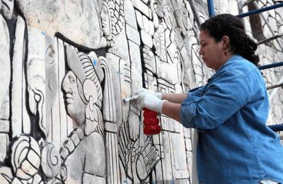 Continúan restauración del Monumento a la Patria