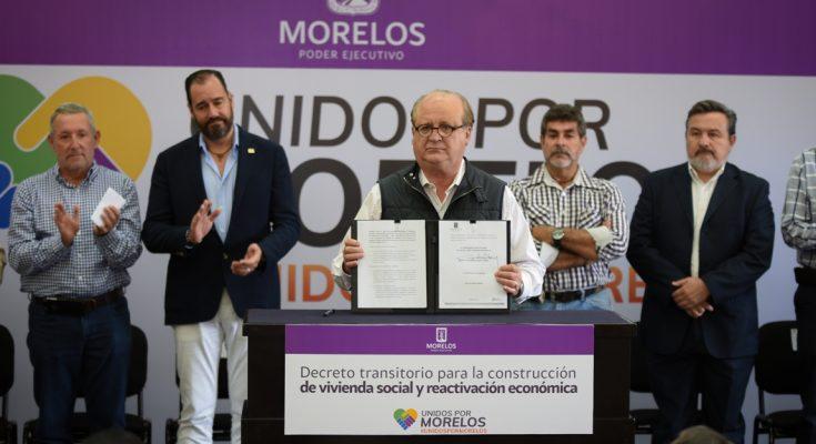 Morelos anuncia inversión para construir 9,000 viviendas