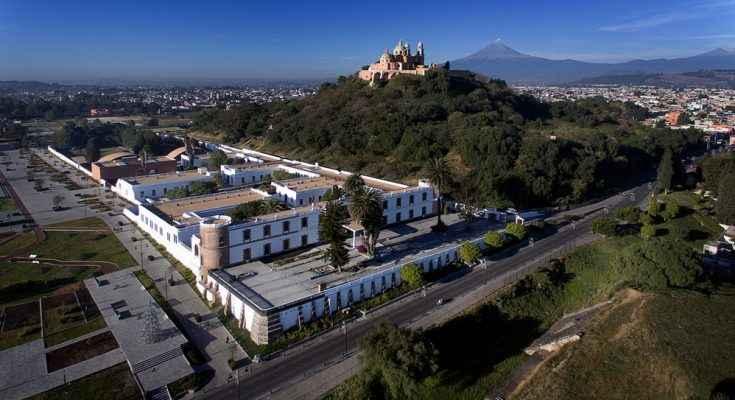 Vista panorámica de Cholula, Pueblo Mágico situado en los alrededores de Puebla