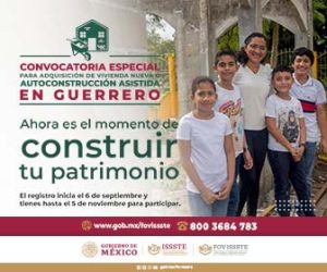 Convocatoria para adquisión de vivienda nueva o autoconstrucción asistida en Guerrero
