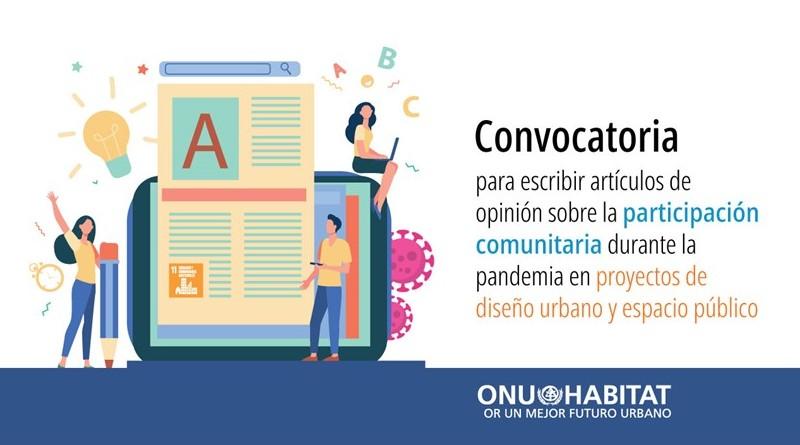 ONU-Habitat convoca a escribir artículos sobre participación comunitaria