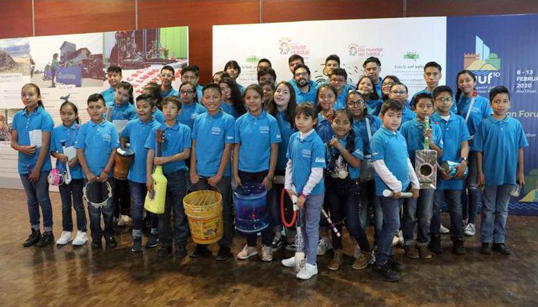 Orquesta infantil transforma residuos en instrumentos musicales