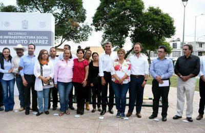 Rehabilitan Parque Benito Juárez en Puebla