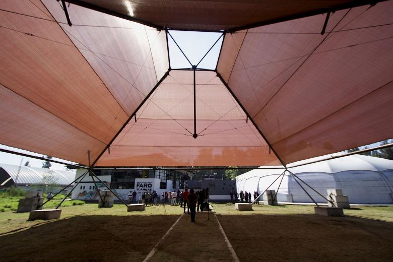 Pabellón arquitectónico de la FICA 2018 es donado a Faro Tláhuac