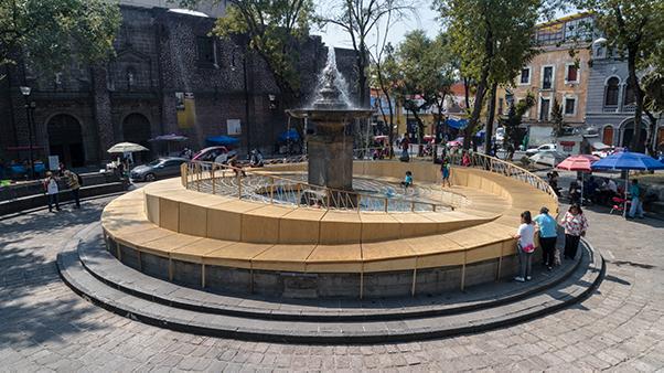 Palma Estudio reactiva Plaza Loreto del Centro Histórico CDMX