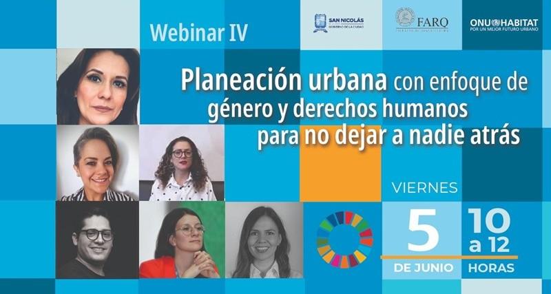 Planeación urbana debe abordarse con perspectiva de género