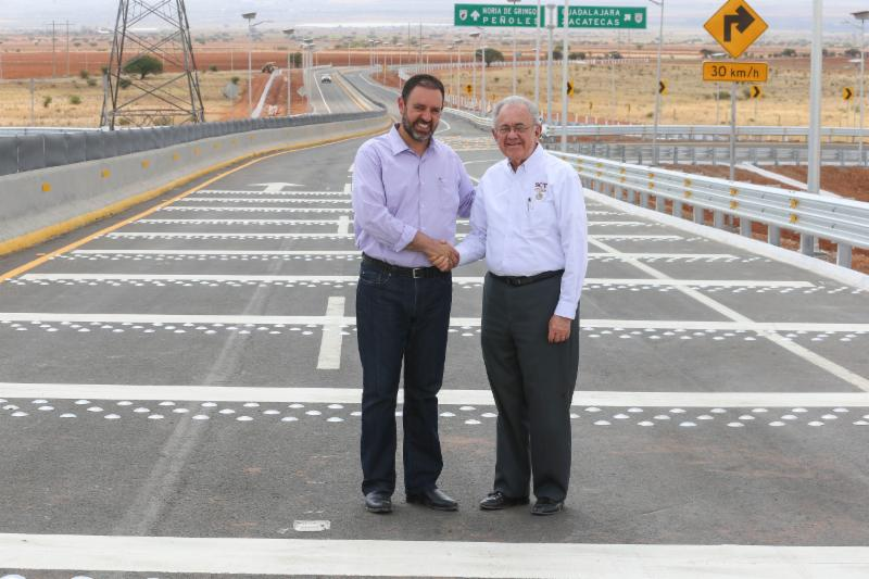 Destinan más de 100 mdp para entronque carretero en Zacatecas