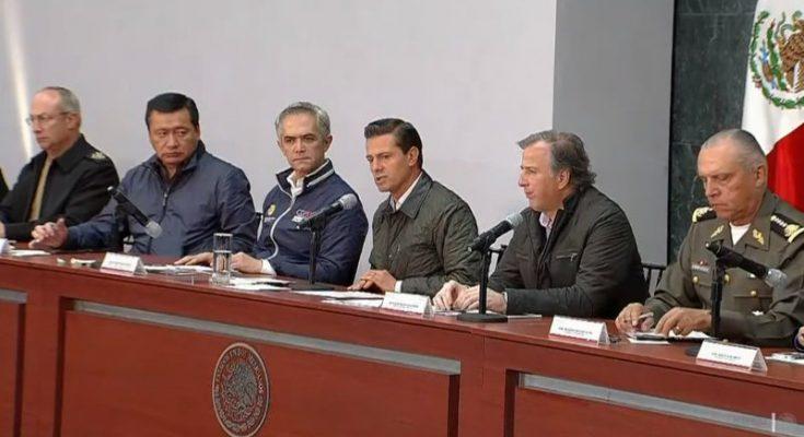 Se dispondrán seis mil millones para reconstruir la CDMX: Meade