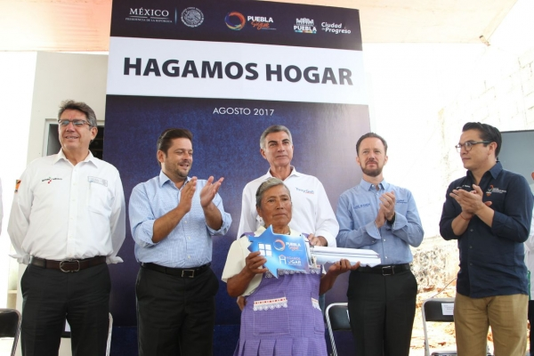 Lanzan programa 'Hagamos Hogar' en Puebla