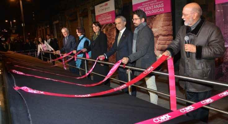 Inauguran puente peatonal en el Centro Histórico
