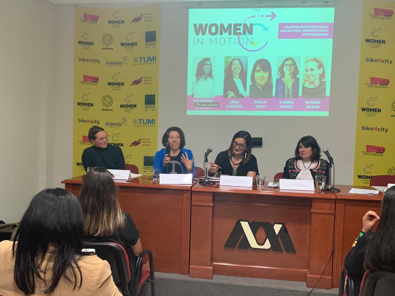 Red Woman in Motion, movilidad sustentable con enfoque de género