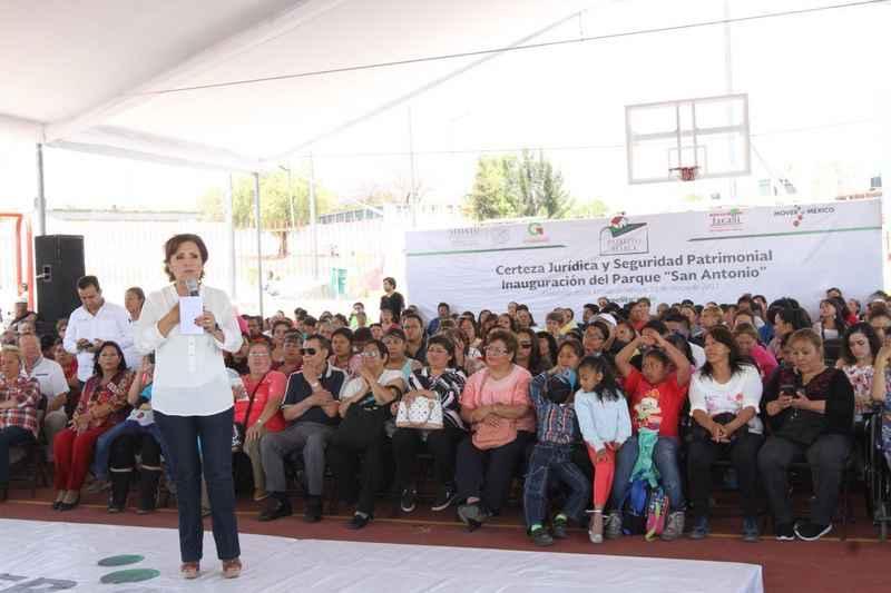 Gobierno federal ha recuperado 70 espacios públicos en Edomex