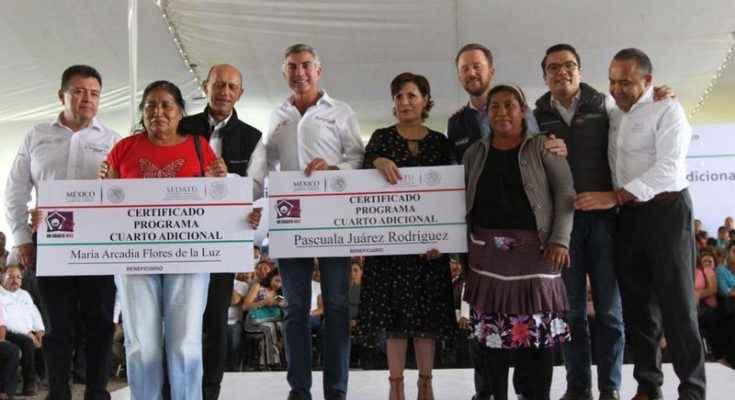 Sedatu ha desarrollado 13,000 Cuartos Rosas en Puebla