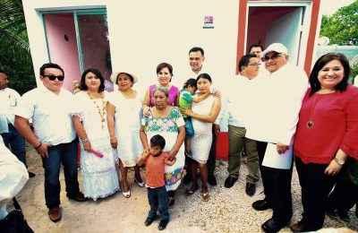 Sedatu ha entregado 4,445 Cuartos Rosas en Yucatán