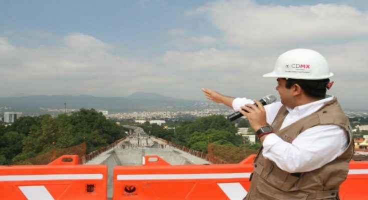 SOBSE concluye montaje de columnas en Viaducto Tlalpan para AUSUR
