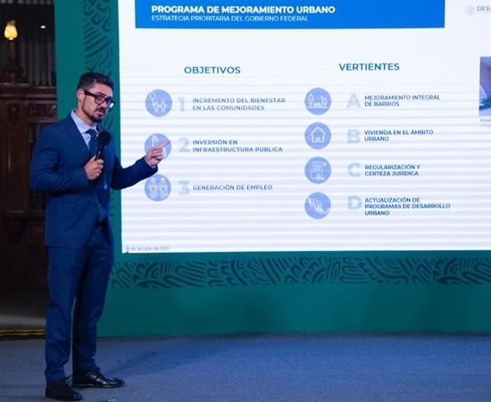Sedatu destaca inversión de 29 mmdp para 762 obras del PMU