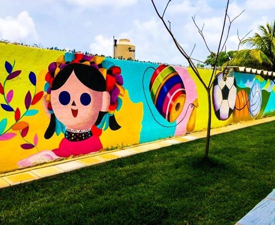 Sedatu impulsa producción de murales en espacios públicos