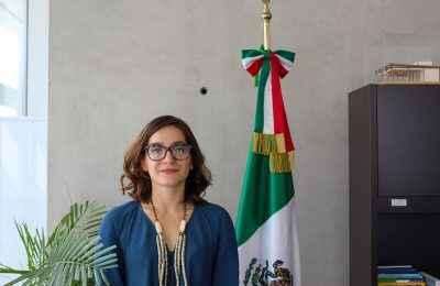 Sedatu impulsará la actualización de planes de desarrollo en municipios-Carina Arvizu_Entrevista-Centro-Urbano_Foto-Edgar-Rosas