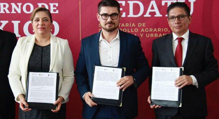 Sedatu y Colmex colaborarán en materia de desarrollo urbano